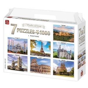 """King International (55929) - """"7 Wonders of Europe"""" - 1000 piezas"""