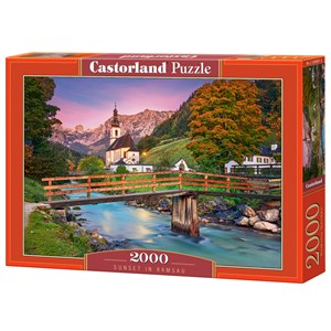 "Castorland (C-200801) - ""Sunset in Ramsau"" - 2000 piezas"