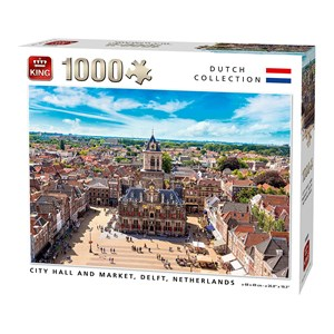 "King International (55869) - ""City Hall and Market, Delft, Netherlands"" - 1000 piezas"