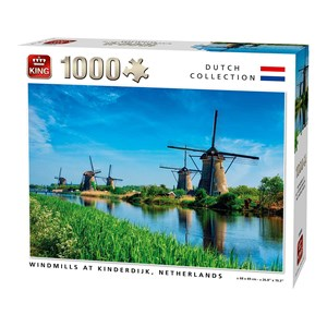 "King International (55885) - ""Windmills Kinderdijk Netherlands"" - 1000 piezas"