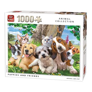 "King International (55846) - ""Puppies and Friends"" - 1000 piezas"