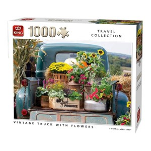 "King International (55862) - ""Vintage Truck with Flowers"" - 1000 piezas"
