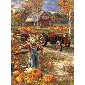 "SunsOut (57144) - Dona Gelsinger: ""The Pumpkin Patch Farm"" - 1000 piezas"