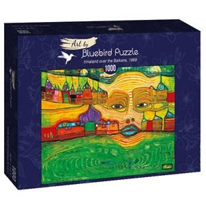"Bluebird Puzzle (60063) - Friedensreich Hundertwasser: ""Irinaland over the Balkans, 1969"" - 1000 piezas"
