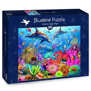 "Bluebird Puzzle (70169) - Adrian Chesterman: ""Dolphin Coral Reef"" - 1000 piezas"