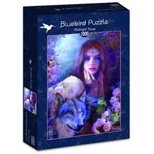 "Bluebird Puzzle (70172) - Bente Schlick: ""Midnight Rose"" - 1000 piezas"