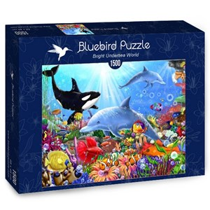 "Bluebird Puzzle (70028) - Gerald Newton: ""Bright Undersea World"" - 1500 piezas"