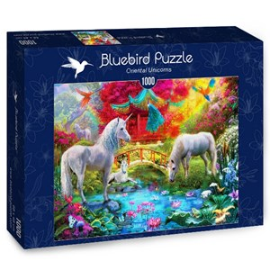 "Bluebird Puzzle (70148) - Jan Patrik Krasny: ""Oriental Unicorns"" - 1000 piezas"