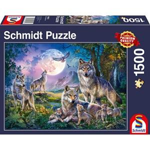 """Schmidt Spiele (58954) - """"Wolves"""" - 1500 piezas"""