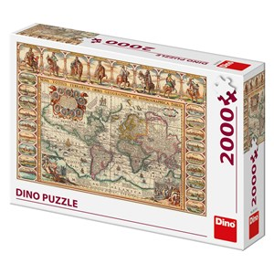 "Dino (56115) - ""Antique World Map"" - 2000 piezas"