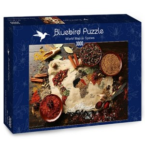 "Bluebird Puzzle (70014) - ""World Map in Spices"" - 3000 piezas"