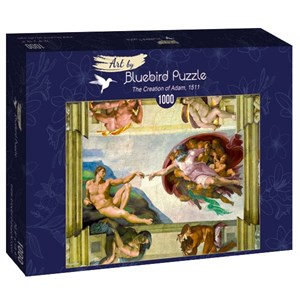 "Bluebird Puzzle (60053) - Michelangelo: ""The Creation of Adam, 1511"" - 1000 piezas"