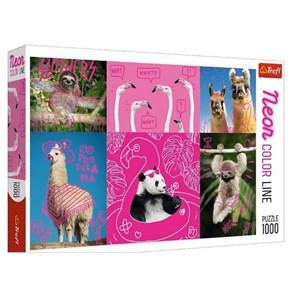 """Trefl (10594) - """"Crazy Pets"""" - 1000 piezas"""