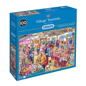 "Gibsons (g6254) - Tony Ryan: ""Village Tombola"" - 1000 piezas"