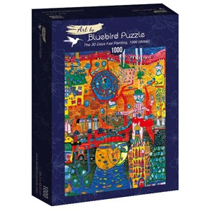 "Bluebird Puzzle (60064) - Friedensreich Hundertwasser: ""The 30 Days Fax Painting, 1996"" - 1000 piezas"
