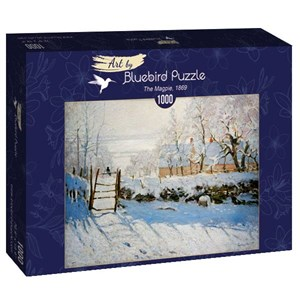 """Bluebird Puzzle (60041) - Claude Monet: """"The Magpie, 1869"""" - 1000 piezas"""