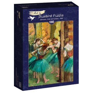 "Bluebird Puzzle (60047) - Edgar Degas: ""Dancers, Pink and Green, 1890"" - 1000 piezas"