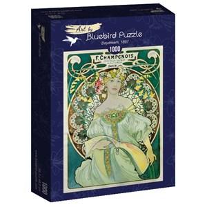 "Bluebird Puzzle (60033) - Alphonse Mucha: ""Daydream, 1897"" - 1000 piezas"