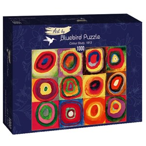 "Bluebird Puzzle (60035) - Vassily Kandinsky: ""Colour Study, 1913"" - 1000 piezas"