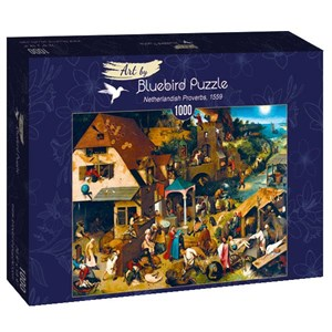 "Bluebird Puzzle (60028) - Pieter Brueghel the Elder: ""Netherlandish Proverbs, 1559"" - 1000 piezas"