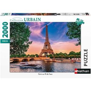 """Nathan (87884) - """"Paris, Fil de l'eau"""" - 2000 piezas"""