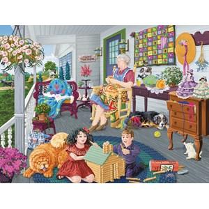 "SunsOut (38980) - Joseph Burgess: ""A Visit to Grandma's"" - 1000 piezas"