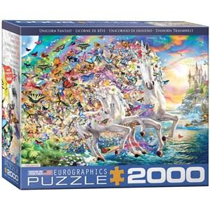 "Eurographics (8220-5551) - ""Unicorn Fantasy"" - 2000 piezas"