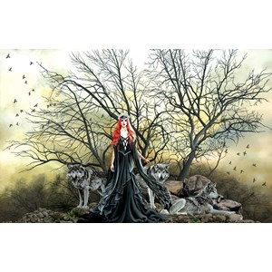 """SunsOut (67609) - Nene Thomas: """"Red Haired Witch"""" - 1000 piezas"""