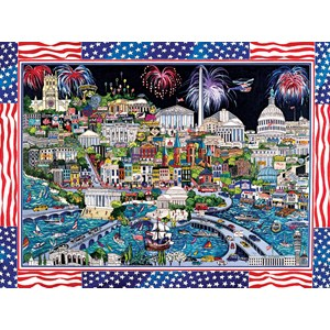 "SunsOut (74058) - Sharie Hatchett Bohlmann: ""Fireworks over Washington DC"" - 1000 piezas"