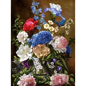 """SunsOut (67709) - """"Bouquet in Blue"""" - 1000 piezas"""