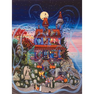 "SunsOut (60877) - Kathy Jakobsen: ""The Ghost and the Haunted House"" - 1000 piezas"