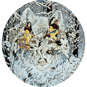 "SunsOut (43001) - Diana Casey: ""Keeper of the Wolf"" - 1000 piezas"