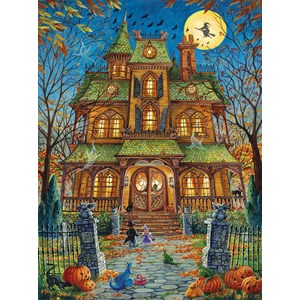 "SunsOut (15515) - Randal Spangler: ""The Trick or Treat House"" - 1000 piezas"