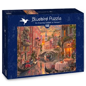 "Bluebird Puzzle (70115) - ""An Evening Sunset in Venice"" - 1500 piezas"