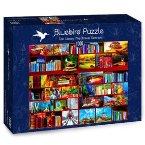 """Bluebird Puzzle (70212) - Celebrate Life Gallery: """"The Library The Travel Section"""" - 1000 piezas"""