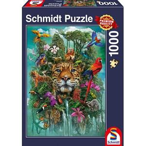 "Schmidt Spiele (58960) - ""King of the Jungle"" - 1000 piezas"