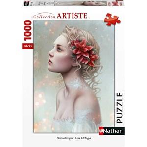 """Nathan (87628) - Cris Ortega: """"Poinsettia"""" - 1000 piezas"""