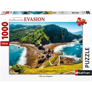 "Nathan (87631) - ""Dragons Island"" - 1000 piezas"