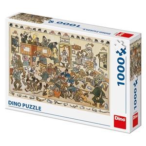 """Dino (53244) - Josef Lada: """"Fight in a Pub"""" - 1000 piezas"""