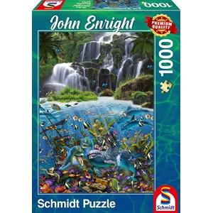 """Schmidt Spiele (59684) - John Enright: """"Waterfall"""" - 1000 piezas"""