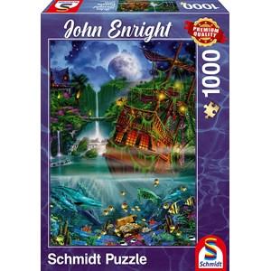 "Schmidt Spiele (59685) - John Enright: ""Sunken treasure"" - 1000 piezas"