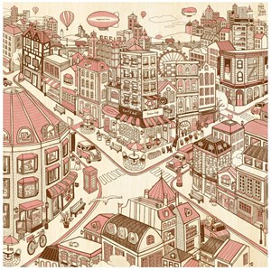 """Pintoo (h1788) - """"Happiness Town"""" - 1600 piezas"""