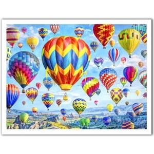 """Pintoo (h2085) - Lars Stewart: """"Hot Air Balloon Festival"""" - 1200 piezas"""