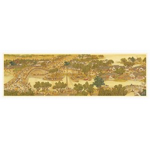 """Pintoo (h1906) - """"Bears Along The River During The Qingming Festival"""" - 2000 piezas"""