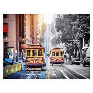 "Pintoo (h2044) - ""Cable Cars on California Street, San Francisco"" - 1200 piezas"