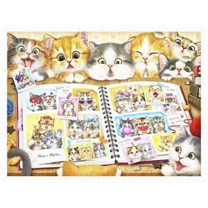 """Pintoo (h2051) - Kayomi Harai: """"Kitten Memory Album"""" - 1200 piezas"""