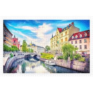 """Pintoo (h2031) - """"Ljubljana, Slovenia"""" - 1000 piezas"""