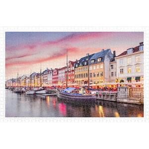 """Pintoo (h2010) - """"Nyhavn Canal in Copenhagen, Denmark"""" - 1000 piezas"""