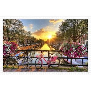"Pintoo (h1770) - ""Beautiful Sunrise Over Amsterdam"" - 1000 piezas"