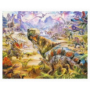 "Pintoo (h1920) - Jan Patrik Krasny: ""Dinosaurs"" - 2000 piezas"
